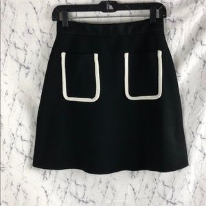 NWT Zara The Knitwear Collection black white skirt